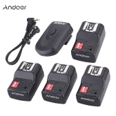 Andoer 16 Channel Wireless Remote Flash Trigger Set 1 Transmitter + 4 Receivers + 1 Sync Cord for Canon Nikon Pentax Olympus Sigma Sunpak Vivitar Neewer YOUNGNUO Speedlite