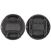 67mm Center Pinch Snap-on Lens Cap Cover Keeper Holder for Canon Nikon Sony Olympus DSLR Camera Camcorder