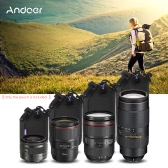 Andoer Shockproof Water-resistant DSLR Lens Pouch Kit(S+M+L+XL) for Canon Nikon Sony Tamron Lens