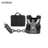 Andoer B200-C1 Pro Video Studio Photography Aluminum Alloy Load Vest Rig 16mm Single Damping Arm Support Shoulder Stabilization for Steadycam Handheld Stabilizer DSLR Camera Camcorder Film Movie Making Load Capacity 5-8kg/11-17.6Lbs