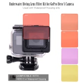 Underwater Diving Lens Filter Kit for GoPro Hero 5 Camera Used with Waterproof Housing only