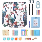 10 in 1 Accessories Kit for Fujifilm Instax Mini 8/8+/8s/9 Include Camera Case/Strap/Selfie Mirror/Filter/Album/Corner Sticker/Photo Frame/Photo Sticker/Pen