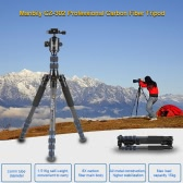 Manbily CZ-302 Professional Carbon Fiber Tripod Kit 5 Sections Travel Camera & DV Tripod Stand Includes KF-0 Ball Head Max Load 15kg