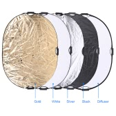 Andoer 90 * 120cm 5in1 Round Collapasible Multi-Disc Portable Circular Photo Photography Studio Video Light Reflector