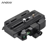Andoer Video Camera Tripod Quick Release Clamp Adapter with Quick Release Plate Compatible for Manfrotto Head