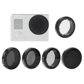 Andoer Round Lens Filters Kit Set(ND2/ND4/ND8/ND16/UV) Protector Protective Glass for GoPro Hero4/3+/3