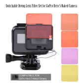 Switchable Diving Lens Filter Set for GoPro Hero 5 Naked Camera