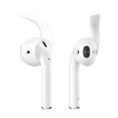 dodocool Replacement Soft Silicone Antislip Ear Hook Earbuds Tips for Apple EarPods and AirPods 3 Pairs S/M/L White