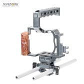 SEVENOAK SK-A7C1 Professional Video DSLR Camera Cage Kit with Top Handle Grip Shoe Mount 15mm Rods for Sony A7/ A7S/ A7R/ A7 II/ A7S II/ A7R II