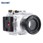 MEIKON SY-6 40m / 130ft Underwater Waterproof Camera Housing Transparent Waterproof Camera Case for Sony RX100 II