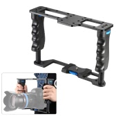 Aluminum Alloy DSLR Camera Video Cage Stabilizer with Two Side Handle Grips