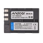 Andoer EN-EL3e Rechargeable Camera Camcorder Li-ion Battery Pack 7.2V 2000mAh for Nikon D700 D300 D200 D80 D90 D70s D300s D50 D100