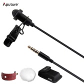 Aputure A.lav ez Portable Broadcast Quality Omnidirectional Lavalier Condenser Microphone with Wind Shield for ios Android Smartphone Tablet Devices