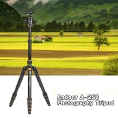 Andoer A-258 Camera Video Foldable Portable Photography Tripod Monopod with 360 Degree Panoramic Ball Head