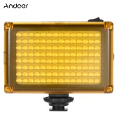 Andoer AD-112 Mini Portable On-camera LED Video Fill-in Light Panel 5500K / 3200K CRI85+ With White & Orange Filters for Canon Nikon Sony DSLR Camera Camcorder