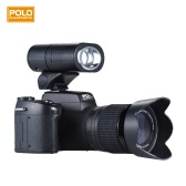 "Polo Sharpshots Auto Focus AF 33MP 1080P 30fps FHD 8X Zoomable Digital Camera w/ Standard + 0.5X Wide Angle + 24X Telephoto Long Lens 3.0"" LCD Bulit-in Flashlight Detachable LED Light PC Cam"