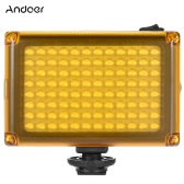 Andoer AD-96 Mini Portable On-camera LED Video Fill-in Light Panel 5500K / 3200K CRI85 with White Orange Filters for DSLR Camera