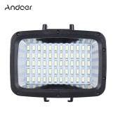 Andoer Ultra Bright 1800LM 3 Modes Waterproof Underwater 40m 5500K 60pcs LED Diving Fill-in Light Video Studio Photo Lamp for GoPro Hero Xiaomi Yi SJCAM Action Cam & for Canon Nikon Sony DSLR Camera w/ Hot Shoe Mount + 3 * Filter