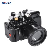 MEIKON SY-16 40m / 130ft Underwater Waterproof Camera Housing Black Waterproof Camera Case for Sony RX100 IV