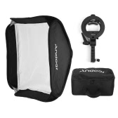 Andoer Photo Studio Multifunctional 80 * 80cm Folding Softbox with S-type Handheld Flash Speedlite Bracket with Bowens Mount and Carrying Bag for Portrait or Product Photography