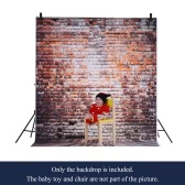1.5 * 2m/4.9 * 6.5ft Photography Background Backdrop Computer Printed Classic Brick Wall Wooden Floor Pattern for Children Kid Baby Newborn Pet Photo Studio Portrait Shooting