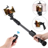 "YUNTENG VCT-388 Extendable Selfie Stick Pole Monopod Self-Timer with Removable Wireless Bluetooth Remote Shutter Controller Phone Clip 1/4"" Screw Carrying bag for iPhone 6 plus/6s/5s/5/4s for Samsung Smartphone with IOS 5.0 Android 4.3 System or above DSLR Camera"