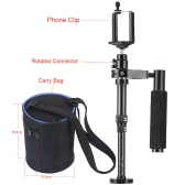 Handheld Portable Video Shooting Stabilizer Adjustable Length with Cellphone Clip Carry Bag for SJCAM Gopro Action Camera  iPhone Samsung Smartphone