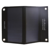 dodocool Portable Foldable 12W 10000mAh Dual USB Solar Charger Power Bank External Battery Pack for Smartphone Tablet 5V USB-charged Device Black
