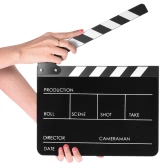 "10"" x 12"" / 24.5 x 30cm Acrylic Dry Erase Clap-stick Clapper Board Slate for Film Movie Cut Action Scene"