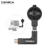 Comica CVM-VG05 Pro Stereo Mic Microphone Audio Sound Recording w/ Windscreen Carrying Case for GoPro Hero 5/4/3+/3 Series Action Sports Camera