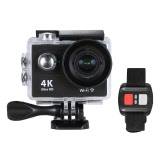 "4K 25fps 1080P 60fps Full HD 12MP WiFi Sports Action Camera w/ Remote Control Watch + Multiple Mount Base + Carrying Bag 170°Wide Angle Lens Waterproof Diving Underwater 30m 2.0"" LCD Cam Car DV"
