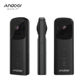 Andoer A360II Handheld 360° VR Video Camera 1920 * 960 30fps Support WiFi Dual 210° HD Wide Angle FishEye Lens Panoramic Cam