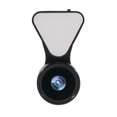 Fashionable Selfie Light Mini Exquisite Beauty Selfie Led Light with Lens Universal 3 in 1 Portable Phone Camera Lens Kit 0.36 X Wide Angle Lens + 15 X Macro Lens + Selfie Led Light