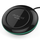 dodocool 10W Fast Charge Wireless Charger Charging Pad with 4.92ft / 1.5m Micro USB Cable for Samsung Galaxy S7 / S7 Edge / Note5 / S6 Edge Plus Compatible with all Qi-enabled Devices Black