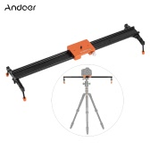 "Andoer 60cm/23.6"" All Metal Aluminum Alloy Video Track Slider Dolly Rail Stabilizer Max. Load 6kg for Canon Nikon Sony DSLR Cam Camera Camcoder"