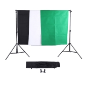 Photography Set Green Black White Screen Backdrop Stand Kit with Oxford Bag