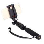 C-088 Extendable Handheld Tripod Monopod Adapter Self Held with Phone Clip for iPhone 5S 6 DSLR Camera