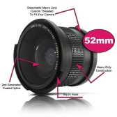52 mm 0.35X Wide Fisheye Lens with Bag for Canon Nikon Sony Pentax 52mm DSLR Camera