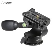 QZSD Q08 Video Tripod Ball Head 3-way Fluid Head Rocker Arm with Quick Release Plate for DSLR Camera Tripod Monopod