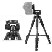 QZSD Q111 Professional Portable Tripod with Q08 Rocker Arm Ball Head for SLR Camera