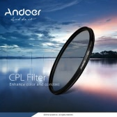 Andoer 55mm Digital Slim CPL Circular Polarizer Polarizing Glass Filter for Canon Nikon Sony DSLR Camera Lens