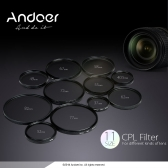 Andoer 77mm Digital Slim CPL Circular Polarizer Polarizing Glass Filter for Canon Nikon Sony DSLR Camera Lens