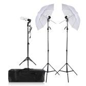 Photography/Video Portrait Umbrella Continuous Triple Lighting Kit