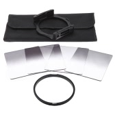Andoer P Series Gradual Graduated Neutral Density Resin Filter Set Graduated Filters 0.3ND 0.6ND 0.9ND 1.2ND 82mm Adapter Ring Square Filter Holder with Bag for DSLR Camera