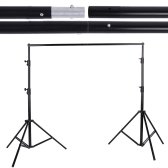 2.8 * 3m / 9.2 * 9.8ft Adjustable Photography Background Support System Backdrop Stand Crossbar Kit Set for Muslins Backdrop