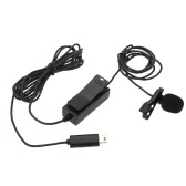 BOYA BY-GM10 Pro Omni-directional Audio Lavalier Microphone Mic with 8m Signal Wire for GoPro HD Hero4/3+/3 Camera