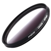 Andeor 67mm Circular Shape Graduated Neutral Density GND8 Graduated Gray Filter for Canon Nikon DSLR Camera