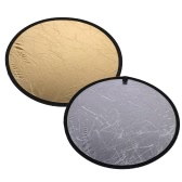 "43.3""/110cm Handhold Multi Collapsible Portable Disc Light Reflector for Photography 2in1 Gold and Silver"
