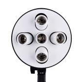 5 in 1 E27 Base Socket Light Lamp Bulb Holder Adapter for Photo Video Studio Softbox