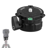 "69mm Speedy Adjustable Leveling Base Panning Level with Offset Bubble Level for All Tripods with 1/4"" 3/8"" Thread"